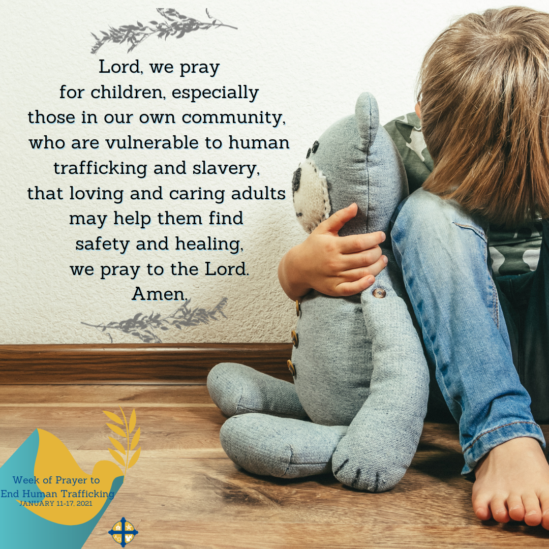 One of every four victims of modern slavery are children. Please pray to #EndHumanTrafficking. #TexasPraystoEndHT