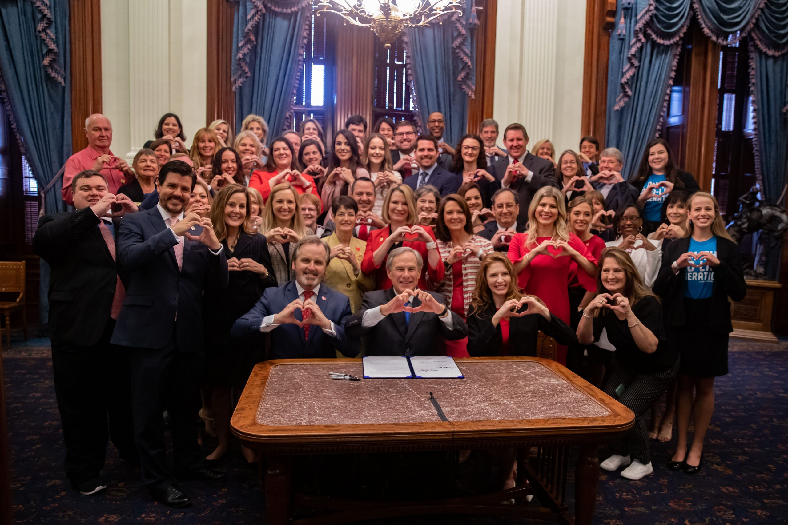 """Texas Governor Greg Abbott signed the """"heartbeat"""" law which become effective Sept. 1, 2021."""